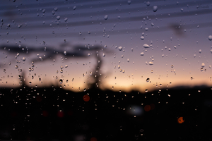 Raindrops on a window by Hrasulee