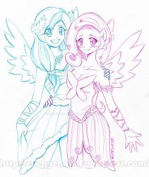 RainbowDash and Fluttershy [commiss.] by RachyChan