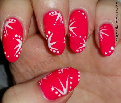 Neon Pink Summer Nails by EnigmaticRambles