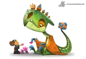 Daily Painting #959. Imaginary Dinosaur (OG) by Cryptid-Creations