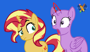 mlp another COLLAB with sunset shimmer by CreativePony7