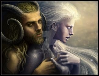 Pan and Selene by Dianae