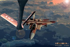 F-15D Aggressor Mid Air Refueling by Distantstarr
