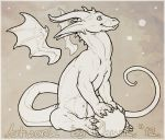 FREE Dragon Lineart by LhuneArt