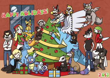 Happy Holidays 2013! by spiffychicken
