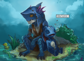 [DotA x LoL] Duck and Sleep by Zeitzbach