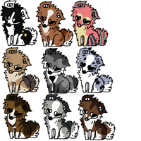 Batch 3 Mixed dogs OPEN by PaddlySwagglyArt