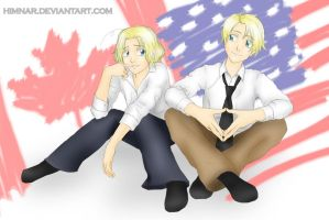 Hetalia - Matthew and Alfred by Himnar