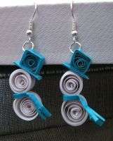 Adorable Quilled Snowman Earrings by cunningcatcrafts