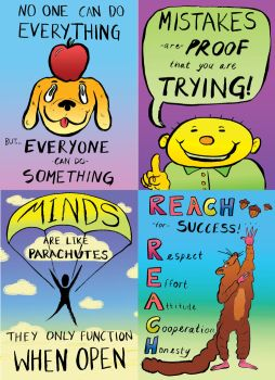 Motivational Posters for Kids by ungoth