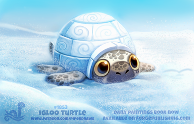 Daily Paint 1853# Igloo Turtle by Cryptid-Creations