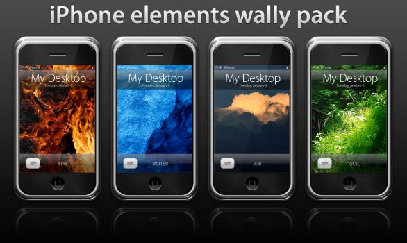 iPhone Elements Wally Pack by Razor99