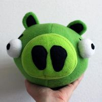 Pig Angry Birds Plush Pattern by brunodarkdevil