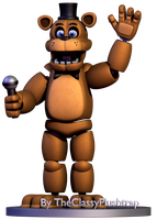 Toon Freddy by TheClassyPlushtrap