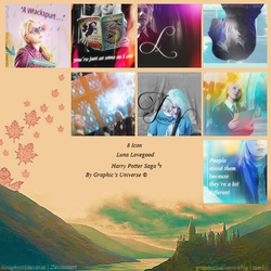 Icon Pack #02 Luna Lovegood by Graphic's Universe by GraphicsUniverse