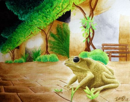 Asian common toad (Duttaphrynus melanostictus) by l-Zoopy-l