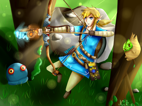 Link Zelda Breath of The wild by Yukiname