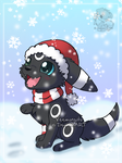 [Commission] Umbreon in the snow by Veemonsito