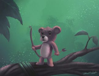 Teddy Bear the Protector by thedarkgecko