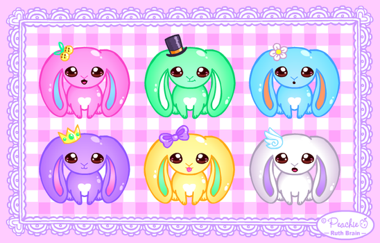 Baby Lop-Eared Bunnies Set by Princess-Peachie