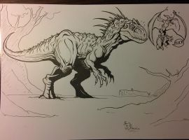 Indominus rex (sketch) by fpobama