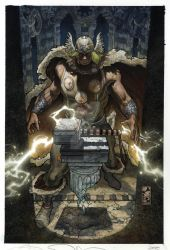 THOR:FOR ASGARD 6 COVER by simonebianchi