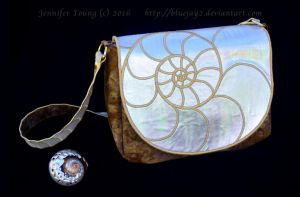 Nautilus Shell Purse (Prototype, Photo 1) by blueJAY2