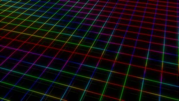 Neon Grid by 16777216