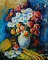 Night Bouquet by Leonid Afremov by Leonidafremov