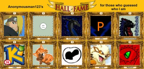 HALL OF FAME by Anonymousman123