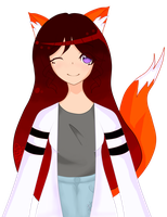 FoxFae - Art Trade with CuddleKittyy! by KawaiiMuski