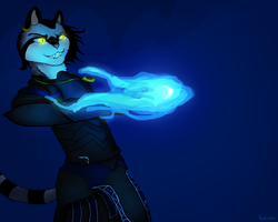 Blue Flames Are Epic, Right? by Nekioka