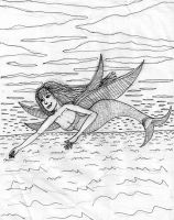 Flying Mermaid by DungeonWarden