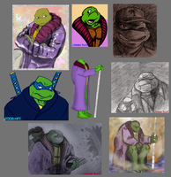 TMNT Future Turtles Doodle by theblindalley