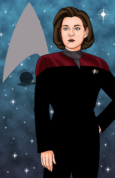 Captain Kathryn Janeway by Blackmoonrose13