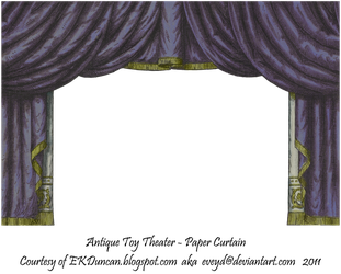 Midnight Toy Theater Curtain 3 by EveyD