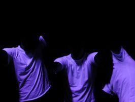 black light self portrait by kuso
