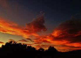 BurNing ClouDs by AthenaIce