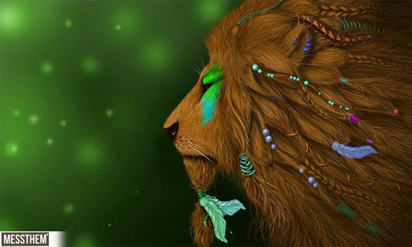 Native lion by messthem