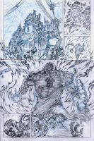 SanEspina Wanted page1 pencils by santiagocomics