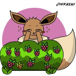 Eevee trying to play hide and seek by Jinkashi