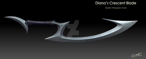 Diana's Crescent Blade by sairox