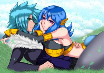 Leonne and Crystal by FenRox