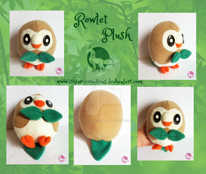 Rowlet Plush by Ishtar-Creations