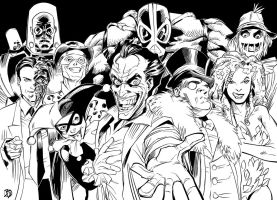 Bat Rogues inks by BDStevens
