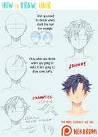 How to draw hair by Nekuromii