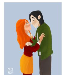 Severus Snape and Lily Evans by Giorgia99