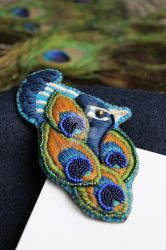 Peacock brooch 2 by akville