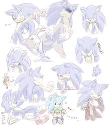 Sonic sketches by Myly14