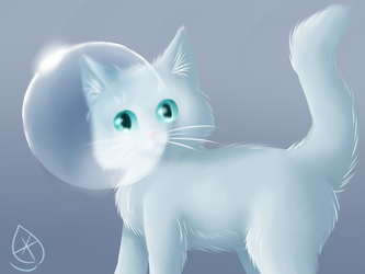 Bubble cat by Frostleaf9